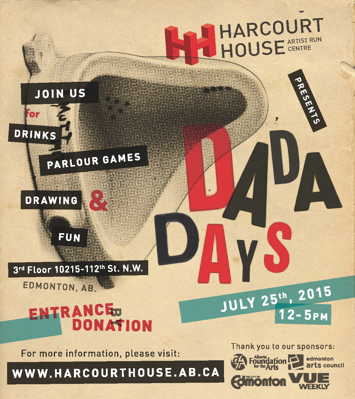 dada days june 25th 12 5pm harcourt house artist run centre