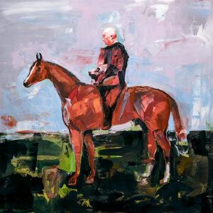 Julian Forrest: Beast, oil on board, 24 x 24 inch, 2020